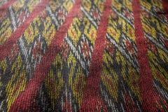 丝绸样式泰国丝织物无缝的编织样式纹理背景 图库摄影