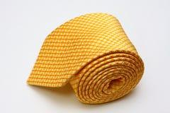 丝绸领带黄色 免版税库存图片