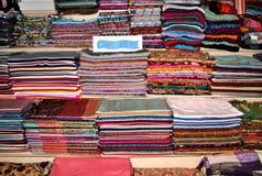 丝绸pashmina的围巾 库存图片