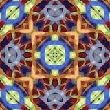 丝绸五颜六色的丝带背景,剪贴薄的背景,顶视图 无缝的样式万花筒蒙太奇 库存图片