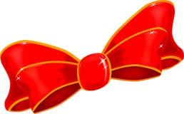 丝绸圣诞节弓 免版税库存图片