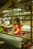 丝绸工厂 库存图片