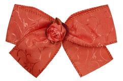 丝绸弓-红色 库存照片