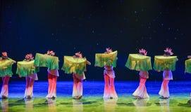 丝绸爱好者中国种族舞蹈 库存照片