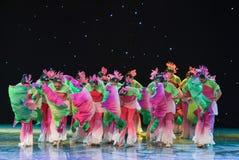 丝绸爱好者中国种族舞蹈 图库摄影