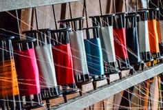 丝绸线程数短管轴 库存照片