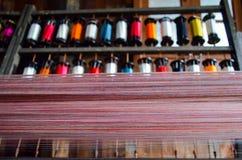 丝绸线程数短管轴 图库摄影