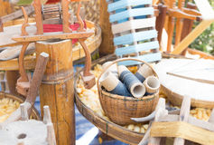 丝绸编织的工具 库存图片