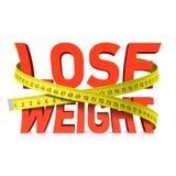 丢失与测量的磁带概念的重量词 免版税库存照片