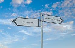 丢失重量和高胆固醇 免版税库存照片