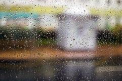 丢弃玻璃雨 抽象背景 库存照片