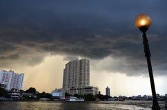 两三雷暴,曼谷 免版税库存照片