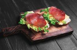两个三明治食物照片 图库摄影