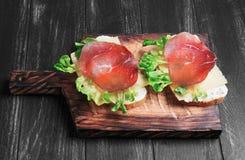 两个三明治食物照片 免版税库存照片