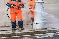 两个人干净的边路 免版税图库摄影