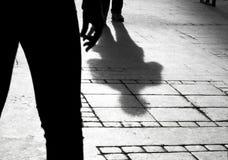 两个人的剪影阴影 免版税图库摄影