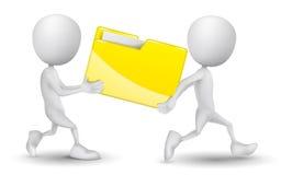 两个人运载了一个文件夹 皇族释放例证