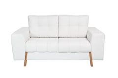 两个位子舒适白色沙发 图库摄影