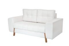 两个位子舒适白色沙发 免版税图库摄影