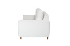 两个位子舒适白色沙发 库存照片