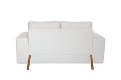 两个位子舒适白色沙发 库存图片
