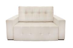两个位子舒适白色沙发 免版税库存照片