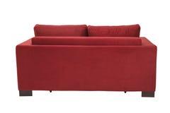 两个位子舒适红色床沙发 免版税库存图片