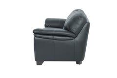 两个位子舒适黑皮革 免版税库存照片