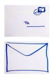 两个信包端 免版税库存图片