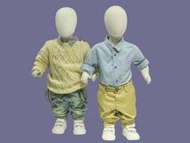 两个儿童时装模特 免版税图库摄影