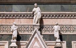 两个先知和救世主,门在佛罗伦萨大教堂侧壁  图库摄影