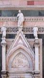 两个先知和救世主,门在佛罗伦萨大教堂侧壁  免版税库存图片