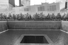 两个全国9月11日纪念水池之一 免版税库存照片