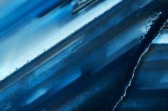 两个切片抽象背景蓝色玛瑙 免版税库存图片