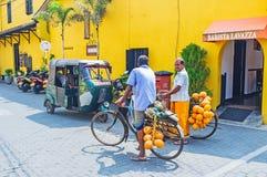 两个单车手在加勒 免版税库存照片
