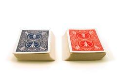 两个卡片组 免版税库存照片