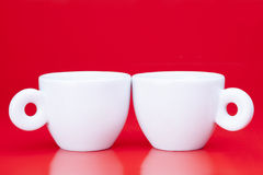 两个咖啡杯 免版税库存照片