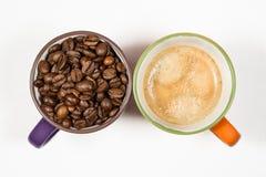 两个咖啡杯04 免版税图库摄影