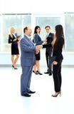 两个商务伙伴会议介绍的 库存照片
