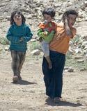 两个土耳其孩子 库存图片