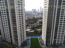 两个塔在雅加达,下午视图 免版税库存图片