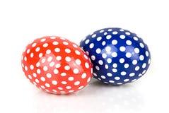 两个复活节彩蛋 免版税库存照片