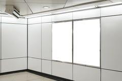 两个大垂直/画象取向空白广告牌 库存图片