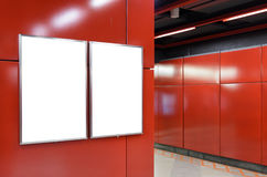 两个大垂直/画象取向空白广告牌 库存照片