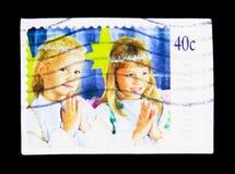 两个天使-圣诞节, serie,大约1997年 库存照片
