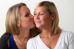 两个女孩朋友 免版税库存照片