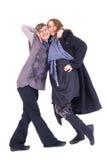 两个女朋友摆在 免版税库存图片