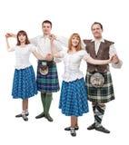 两个对苏格兰人舞蹈的舞蹈家 图库摄影