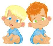两个小兄弟 向量例证