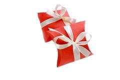 两个小红色礼物盒 图库摄影